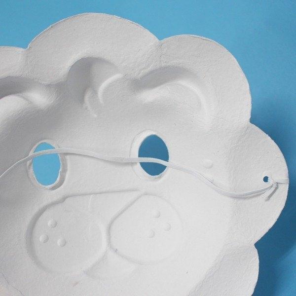 獅子面具 空白面具 動物面具/一個入(定40) 附鬆緊帶 DIY面具 AA5348