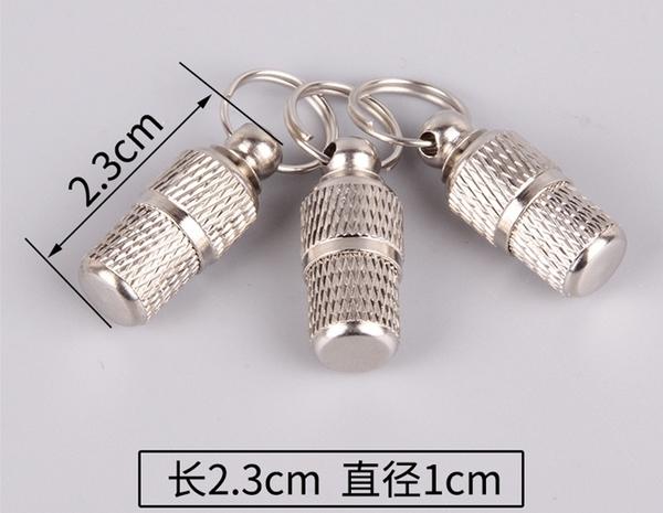 TwinS超迷你寵物名牌掛牌吊牌 寵物身分牌 不鏽鋼時空膠囊 鑰匙圈【24*10mm】