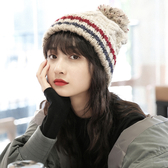 帽子 帽子女秋冬新款韓版百搭毛線帽加厚加絨時尚麻花扭花紋針織帽潮