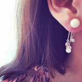 耳環 925純銀鑲鑽-優雅流蘇生日情人節禮物女耳飾73du6【時尚巴黎】