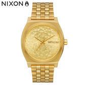 NIXON 手錶 原廠總代理 A045-2710 Time Teller 金色 潮流時尚鋼錶帶 男女適用 運動 生日 情人節禮物
