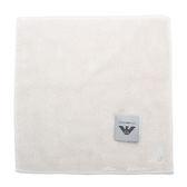 Emporio Armani 素面棉質方巾(米色)989077