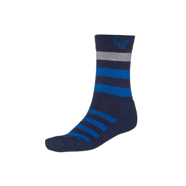Norrona 老人頭 falketind Mid Weight Merino Socks 美麗諾羊毛健行襪 中厚 靛青藍