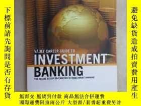 二手書博民逛書店英文書罕見VAULT GUIDE TO INVESTMENT BANKING, ASIA PACIFIC EDIT