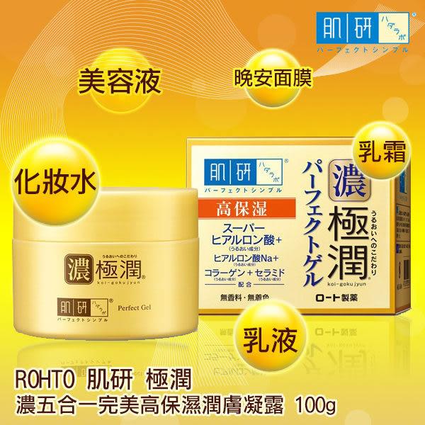 ●魅力十足● ROHTO 肌研 濃極潤五合一完美高保濕潤膚凝露 100g 肌研極潤完美多效凝露100g