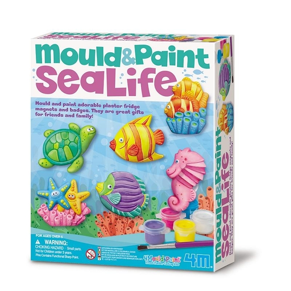【4M】03511 美勞創意-海底世界 製作磁鐵 Mould & Paint Sealife