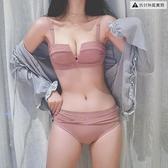 無肩帶內衣女套裝小胸聚攏調整型文胸無鋼圈性感收副乳【毒家貨源】