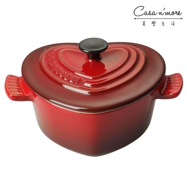 Le Creuset 陶瓷 心型小烤盅 櫻桃紅 200ml
