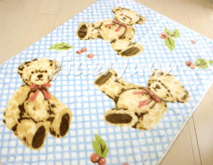 【佳兒園婦幼館】日本西川 三熊發熱中童毯100x140cm (藍色)