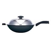 日本寶馬黑瓷釉不沾單把炒鍋 40cm JA-A-008-040A