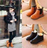 秋冬季兒童靴子女童鞋男童馬丁靴加絨棉鞋寶寶短靴雪地靴  深藏blue