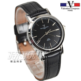 valentino coupeau 范倫鐵諾 古柏 不銹鋼簡約時尚女錶 真皮錶帶 防水手錶 學生錶 V61576黑小
