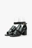 ALL BLACK   氣質雙腰帶涼鞋(黑色)