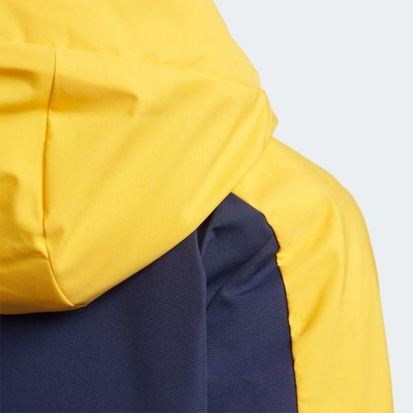 ADIDAS PADDED 童裝 中童 外套 防風 連帽 休閒 保暖 黃 藍【運動世界】EH4151