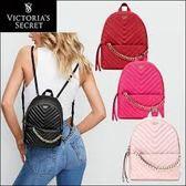 現貨 Victoria's Secret 維多利亞的秘密 V字紋 小型雙肩後背包 (淡粉紅色)