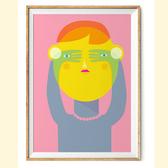 【摩達客】西班牙知名插畫家Judy Kaufmann藝術創作海報版畫掛畫裝飾畫-秘密