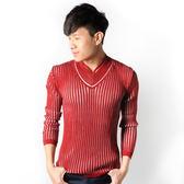 JUN 紅白條紋毛衣