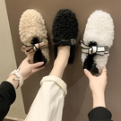 毛毛鞋女冬外穿2020秋新款加絨保暖棉鞋網紅孕婦一腳蹬豆豆鞋百搭 酷男精品館