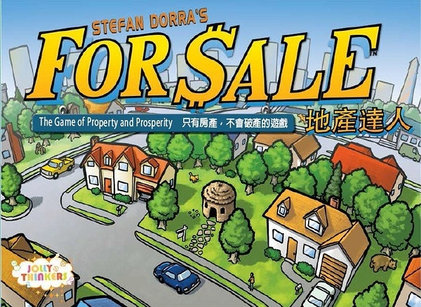 『高雄龐奇桌遊』 地產達人 For Sale 繁體中文版 房地產拍賣 新版 正版桌上遊戲專賣店