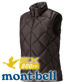 【Mont-Bell 日本 Light Alpine女800FP羽絨背心 深粟】1101433/羽絨背心