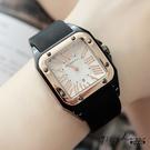 Glisten.REBIRTH品牌。羅馬數字日曆顯示金邊大方框矽膠錶帶手錶/情侶對錶【tc292】911 SHOP