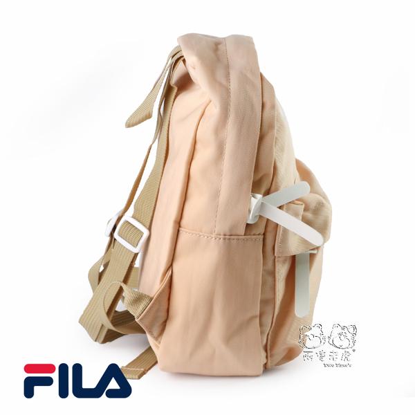 FILA 輕量 馬卡龍色 裸橘色 防潑水 後背包 NO.H2754
