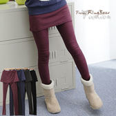 質感假兩件內搭褲--創造多重層次感-素面鬆緊帶假兩件內搭褲裙(黑.灰.藍.紅M-XL)-P31眼圈熊中大尺碼