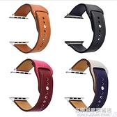 適用蘋果applewatch6皮表帶iwatch5新扣式腕帶series潮運動透氣SE 名購新品