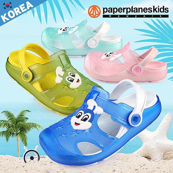 PAPERPLANES 紙飛機 韓國空運 可愛動物圖案果凍色 輕量布希兒童涼鞋【B7903311】4色