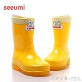 兒童雨鞋雨靴帶閃燈大小孩男童女童韓版水靴膠鞋 怦然心動