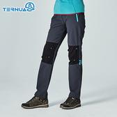 【西班牙TERNUA】女Shellstretch拼接保暖褲1273378 / 城市綠洲(防潑水、排汗快乾、耐磨)