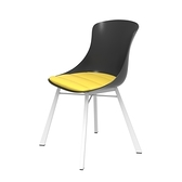 組 - 特力屋萊特 塑鋼椅 金屬一體成型腳架/黑椅背/黃座墊