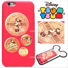 免運 官方授權 迪士尼 Tsum Tsum 疊疊樂 立體 皮革 Q版 iPhone 6 6S Plus 手機殼 保護套 皮套 米妮徽章