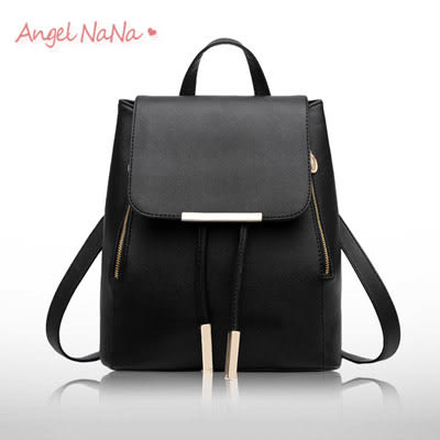 後背包  女雙肩包 韓版 簡約(都有現貨) 百搭 十字紋  AngelNaNa (SBA0155)