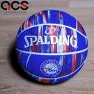Spalding 籃球 NBA 76ers Rubber 藍 紅 7號球 室外 大理石印花 運動休閒 【ACS】 SPA84149