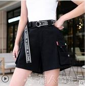 工裝短褲女寬鬆bf風夏季韓版寬鬆中性五分褲高腰日擊直筒褲子