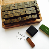 印章-字母印章英文打印機正體木質手帳復古手賬大寫小寫符號木盒印章 完美情人館