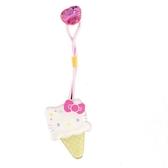 小禮堂 Hello Kitty 彈力髮束 造型髮束 髮圈 髮飾 頭飾 首飾 冰淇淋造型 (米白) 4550337-31185