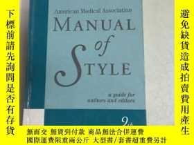 二手書博民逛書店American罕見Medical Association Manual Of Style : A Guide F