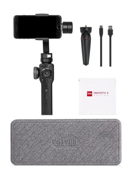 Smooth 4 手持云台三軸防抖手機穩定器Gopro拍攝視頻陀螺儀 創想數位DF