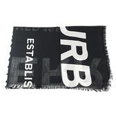 【南紡購物中心】BURBERRY Horseferry 印花輕盈羊毛絲綢圍巾(黑)