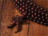 新年鉅惠印度小葉紫檀木手串108顆男女手鍊滿金星2.0佛珠念珠長款項鍊飾品 小巨蛋之家
