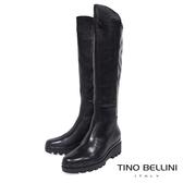 Tino Bellini 歐洲進口自然微皺感厚底及膝長靴 _ 黑 A79018 歐洲進口款