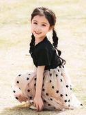 洋氣兒童洋裝夏季公主裙中大童小女孩裙子短袖 伊莎gz
