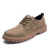 夏季短靴男韓版潮流休閒鞋工裝大頭皮鞋低筒復古板鞋馬丁靴男靴子 居享優品