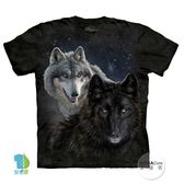 【摩達客】(預購)美國進口The Mountain 星光雙狼 純棉環保短袖T恤(YTM104174851047)