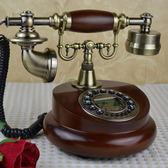 歐式仿古實木電話機創意美式電話機家用電話復古時尚座機電話   潮流前線