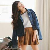 港味牛仔外套女寬鬆春秋韓版休閒短款夾克chic學生短外套上衣潮