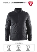 【速捷戶外】瑞典Craft 1904569 PRIMALOFT男防潑保暖外套-黑色, 適合旅遊 登山 滑雪 城市探索