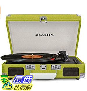[美國直購] Crosley CR8005D-GR 綠色 手提箱黑膠播放機 可攜式音響 音箱 Cruiser Deluxe Portable 3-Speed Turntable